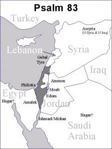 Psalm 83 nation map